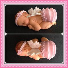 Adorno de torta de bebé para dormir por 1crazyforcakes en Etsy