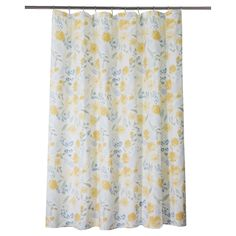 The beautiful Threshold Modern Floral Shower Curtain will complement any contemporary bathroom décor. Pretty, yet still practical, this printed shower curtain fabric is durable and soft to the touch. The multicolor floral design mixed with a water color effect will leave a fresh feel to the room.