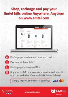 Emtel - Shop, recharge and pay online on www.emtel.com. Tel: 8970