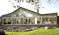 wood and glass country house
