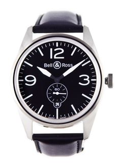 Click Image Above To Buy: Bell And Ross Original Black Dial Automatic 41mm Mens Watch Br-123-original-black