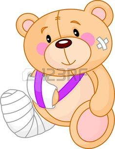Very cute Sick Teddy Bear. Get well Stock Vector