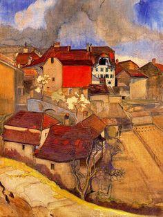 Landscape Painting by Swiss Artist Ernest Bieler (1863-1948) ~ Blog of an Art Admirer