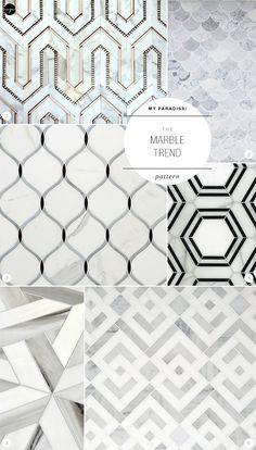 The Marble Trend | Pattern. #LivingRoomFurniture, #ModernHomeDécor, #MarbleDécorIdeas
