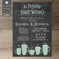 Baby is Brewing Coffee Cups Flowers Floral Baby by greylein