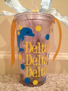 Delta Delta Delta Tumbler Tri Delta  Free Shipping by LCP2012, $20.00