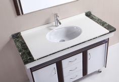 € 550,- Lambini Designs Vilo badmeubel - wit - 1 kraangat - 85cm (H) - 120cm (B) - 56cm (D) incl. kraan en spiegel #wastafelkraan #spiegel #meubel #compleet