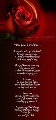 I Love My Son Poem   Love Poem-Love You Need You ~ Poems Book : A place for poetry lovers