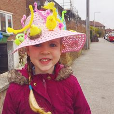 Easter Bonnet day for this one at school pipe-cleaner-baby-chick-tastic!  I've got my fingers crossed for a win in the school Easter Egg raffle today too as she's not a big chocolate fan sooooooo it usually gets passed to me