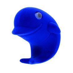 Ozdobne opakowanie na biżuterię w kształcie delfina, niebieski delfinek na pierścionek lub kolczyki | NA PREZENT \ Opakowania na biżuterię od GESELLE Jubiler