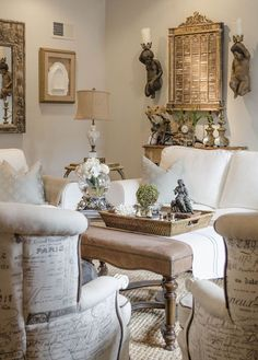 57 Beautiful French Country Living Room Decor Ideas