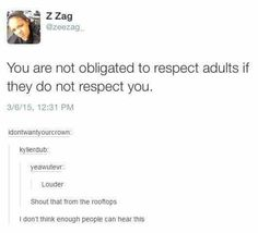 LOUDER FOR THE KIDDOS IN THE BACK, LOUDER FOR THE OLD ONES THAT THINK THEY CAN BE DISRESPECTFUL WITH YOU