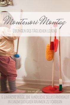 Montessori Montag: 5 Übungen des täglichen Lebens für Kleinkinder (mit Dingen, die wir daheim haben)