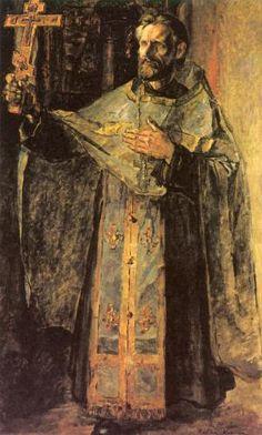 Павел Корин. «Отец Иван, священник из Палеха»