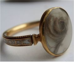 English gold and enamel mourning ring from 1778