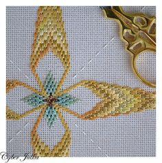 Bargello Patterns, Bargello Needlepoint, Needlepoint Stitches, Needlework, Ribbon Embroidery, Embroidery Stitches, Embroidery Patterns, Swedish Embroidery, Swedish Weaving