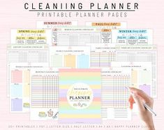 Printable cleaning schedule cleaning schedule printable | Etsy