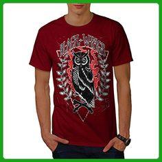 Wings Owl Nature Animal Men S T-shirt | Wellcoda - Animal shirts (*Amazon Partner-Link)
