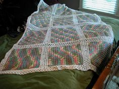 Free crochet pattern: Monet Afghan – The Crochet Dude--would be nice with planned pooling squares joined!