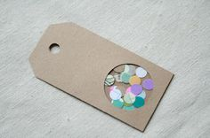 The Creative Place: DIY :: Confetti Gift Tag