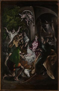 The Adoration of the Shepherds  El Greco (Domenikos Theotokopoulos) (Greek, Iráklion (Candia) 1540/41–1614 Toledo)  Date: ca. 1610 Medium: Oil on canvas