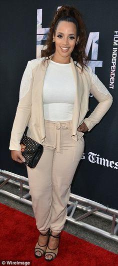 Showdown on the red carpet: Actress Keke Palmer (L) and actress Dascha Polanco (R) posed u...