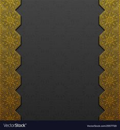 Background with traditional floral ornament vector image on VectorStock Metal Background, Poster Background Design, Creative Background, Framed Wallpaper, Islamic Wallpaper, Flower Wallpaper, Islamic Art Pattern, Pattern Art, Classic Business Card