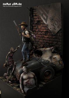 The Walking Dead 1/24 Scale Model Diorama