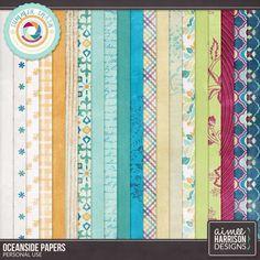 Digital Art :: Paper Packs :: Oceanside Paper Pack