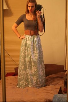 The Crafted Cure: Winning! Diy maxi skirt from a sheet