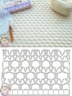 Crochet stitches 84090718030885419 - new Ideas for crochet lace curtains fabrics Source by ulrikebliefert Crochet Chart, Crochet Stitches Patterns, Crochet Diagram, Crochet Motif, Crochet Doilies, Knitting Patterns, Knit Crochet, Crochet Fabric, Crocheted Lace