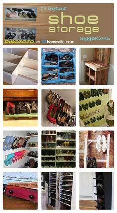Keep your shoes off the floor and tidy using these great storage ideas!