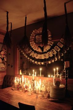 Brit's always amazing Halloween decorations are up!