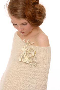 Jasmin Winter - brooch - silver