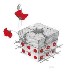 Marcel Bakker - Inner Cubes - abstract sketches 1