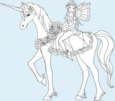Unicorn Pegasus Coloring Pages For Kids 128 Free Printable - Unicorn-and-fairy-coloring-pages