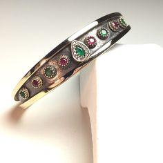 Hurrem!! Ottoman Turkish Handmade Sterling Silver Emerald Ruby & Topaz Bracelet  | eBay
