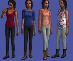 Mod The Sims - MESH Slim Pants with Laceup Boots
