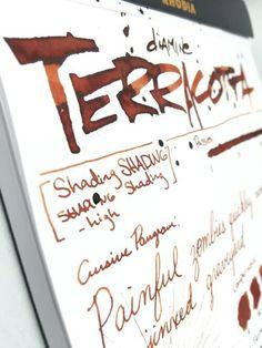 Diamine Terracotta ink