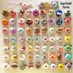 Sugoi PanDA Charms : Photo Polymer Clay Donuts