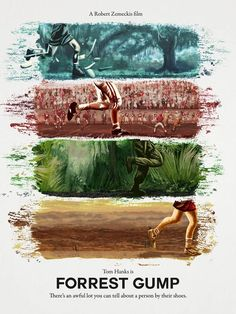 Forrest Gump by Daniel Nash - Home of the Alternative Movie Poster -AMP- Forrest Gump Quotes, Forrest Gump Movie, Movie Poster Art, Poster On, Film Posters, Iconic Movies, Great Movies, Cult Movies, Indie Movies
