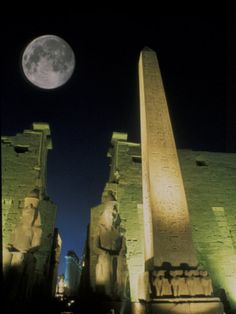 size: Photographic Print: Moonrise over Luxor Complex in Luxor, Egypt by Richard Nowitz : Subjects Beautiful World, Beautiful Places, Beautiful Moon, Places Around The World, Around The Worlds, Luxor Egypt, Ancient Egypt, Ancient History, North Africa