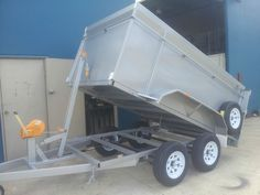 10 x 5 Tandem Trailer Tipper Trailer With Manual Winch Double Chassis