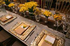 decoração amarela