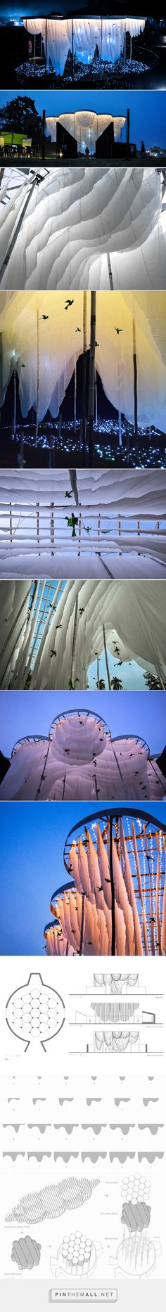 abin design studio creates pavilion of canopies for festival in india. - a grouped images picture - Pin Them All Nachhaltiges Design, Design Studio, Theatre Design, Stage Design, Conception Scénique, Art Sculpture, Stage Set, Scenic Design, Light Installation