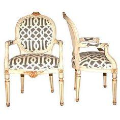 www.eyefordesignlfd.blogspot.com Decorate Your Interiors With Treillage - modern treillage inspired fabric