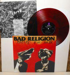 BAD RELIGION recipe for hate LP Record BROWN Vinyl with lyrics insert #punk