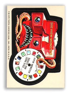 Topps Wacky Packages  15th Series 1975 VIEWMONSTER