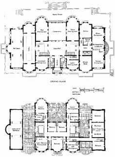1873-76. Kensington House, London - Built by Baron Albert Grant (Gottheimer) in 1873–6, Architect James Knowles, Jr. The Grand Hall was 90' wide. The building was never lived in, and was demolished in 1882.