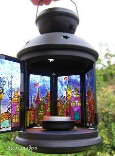Поделка изделие День рождения Новый год Рисование и живопись Волшебный фонарь из Ikea Краска Стекло фото 7